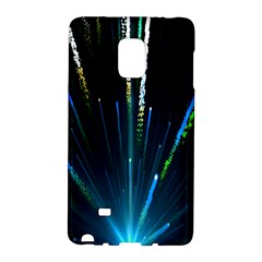 Seamless Colorful Blue Light Fireworks Sky Black Ultra Galaxy Note Edge