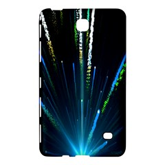 Seamless Colorful Blue Light Fireworks Sky Black Ultra Samsung Galaxy Tab 4 (8 ) Hardshell Case