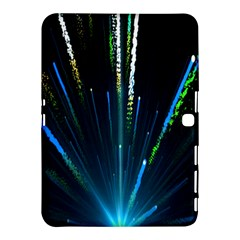 Seamless Colorful Blue Light Fireworks Sky Black Ultra Samsung Galaxy Tab 4 (10 1 ) Hardshell Case