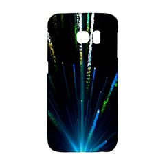 Seamless Colorful Blue Light Fireworks Sky Black Ultra Galaxy S6 Edge