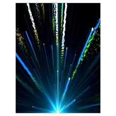 Seamless Colorful Blue Light Fireworks Sky Black Ultra Drawstring Bag (large)