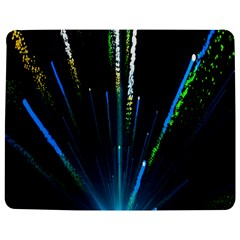 Seamless Colorful Blue Light Fireworks Sky Black Ultra Jigsaw Puzzle Photo Stand (rectangular)