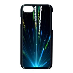 Seamless Colorful Blue Light Fireworks Sky Black Ultra Apple Iphone 7 Seamless Case (black)
