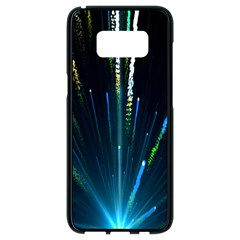 Seamless Colorful Blue Light Fireworks Sky Black Ultra Samsung Galaxy S8 Black Seamless Case