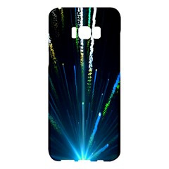 Seamless Colorful Blue Light Fireworks Sky Black Ultra Samsung Galaxy S8 Plus Hardshell Case