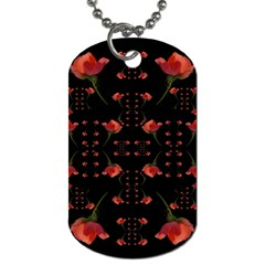 Roses From The Fantasy Garden Dog Tag (two Sides)