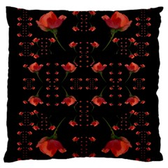 Roses From The Fantasy Garden Large Cushion Case (one Side)