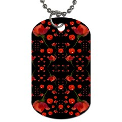 Pumkins And Roses From The Fantasy Garden Dog Tag (two Sides)