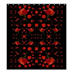 Pumkins And Roses From The Fantasy Garden Shower Curtain 66  X 72  (large)