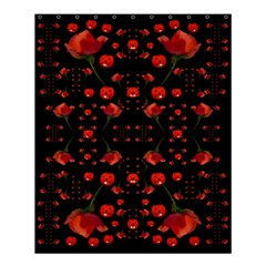 Pumkins And Roses From The Fantasy Garden Shower Curtain 60  X 72  (medium)