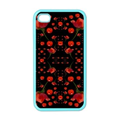 Pumkins And Roses From The Fantasy Garden Apple Iphone 4 Case (color)