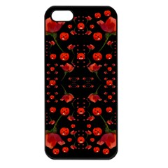 Pumkins And Roses From The Fantasy Garden Apple Iphone 5 Seamless Case (black)