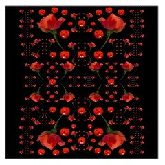 Pumkins And Roses From The Fantasy Garden Large Satin Scarf (square)