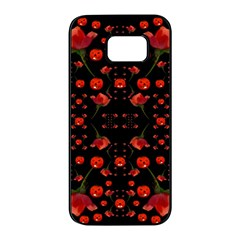 Pumkins And Roses From The Fantasy Garden Samsung Galaxy S7 Edge Black Seamless Case
