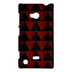 Triangle2 Black Marble & Reddish Brown Wood Nokia Lumia 720