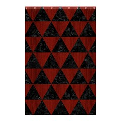 Triangle3 Black Marble & Reddish Brown Wood Shower Curtain 48  X 72  (small)