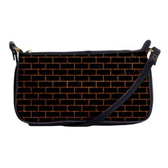 Brick1 Black Marble & Rusted Metal (r) Shoulder Clutch Bags