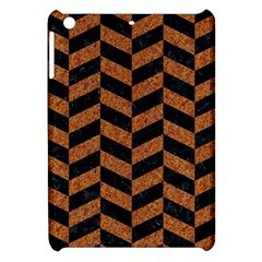 Chevron1 Black Marble & Rusted Metal Apple Ipad Mini Hardshell Case