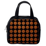 CIRCLES1 BLACK MARBLE & RUSTED METAL (R) Classic Handbags (One Side) Front