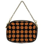CIRCLES1 BLACK MARBLE & RUSTED METAL (R) Chain Purses (Two Sides)  Front