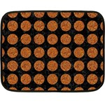 CIRCLES1 BLACK MARBLE & RUSTED METAL (R) Fleece Blanket (Mini) 35 x27 Blanket