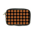 CIRCLES1 BLACK MARBLE & RUSTED METAL (R) Coin Purse Front