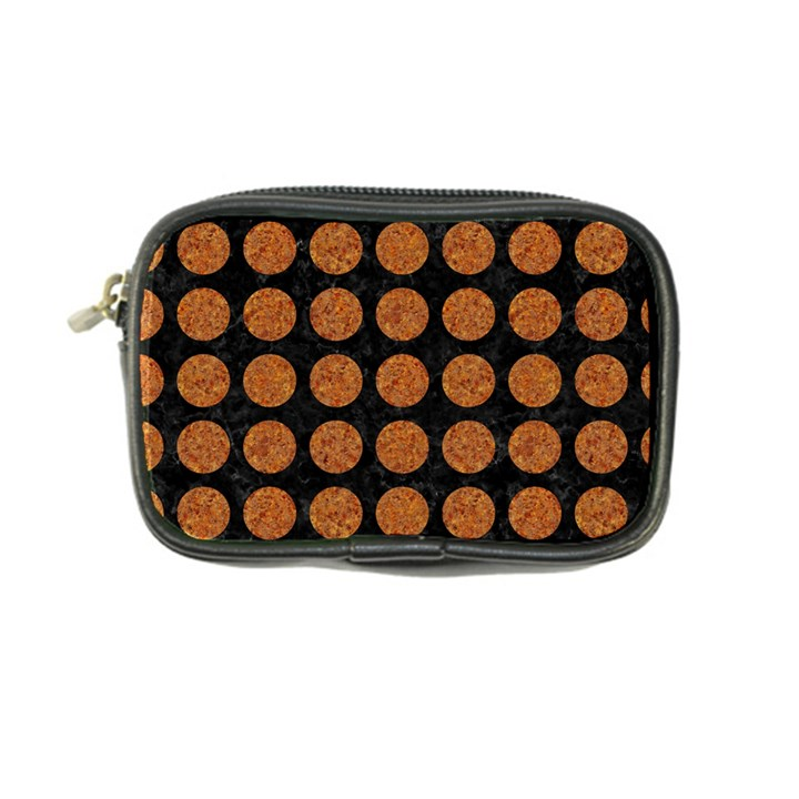 CIRCLES1 BLACK MARBLE & RUSTED METAL (R) Coin Purse