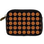 CIRCLES1 BLACK MARBLE & RUSTED METAL (R) Digital Camera Cases Front