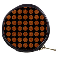 Circles1 Black Marble & Rusted Metal (r) Mini Makeup Bags