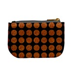 CIRCLES1 BLACK MARBLE & RUSTED METAL (R) Mini Coin Purses Back