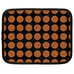 CIRCLES1 BLACK MARBLE & RUSTED METAL (R) Netbook Case (XXL)  Front