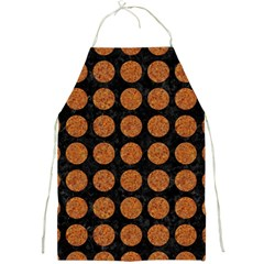 Circles1 Black Marble & Rusted Metal (r) Full Print Aprons
