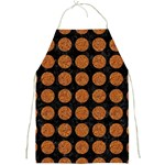 CIRCLES1 BLACK MARBLE & RUSTED METAL (R) Full Print Aprons Front
