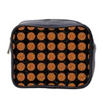 CIRCLES1 BLACK MARBLE & RUSTED METAL (R) Mini Toiletries Bag 2-Side Front