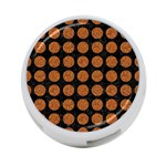 CIRCLES1 BLACK MARBLE & RUSTED METAL (R) 4-Port USB Hub (Two Sides)  Front