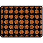 CIRCLES1 BLACK MARBLE & RUSTED METAL (R) Fleece Blanket (Large)  80 x60 Blanket Front