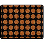CIRCLES1 BLACK MARBLE & RUSTED METAL (R) Fleece Blanket (Medium)  60 x50 Blanket Front