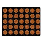 CIRCLES1 BLACK MARBLE & RUSTED METAL (R) Fleece Blanket (Small) 50 x40 Blanket Front