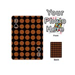 CIRCLES1 BLACK MARBLE & RUSTED METAL (R) Playing Cards 54 (Mini)  Front - Spade3