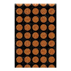 Circles1 Black Marble & Rusted Metal (r) Shower Curtain 48  X 72  (small)