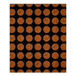 CIRCLES1 BLACK MARBLE & RUSTED METAL (R) Shower Curtain 60  x 72  (Medium)  54.25 x65.71 Curtain