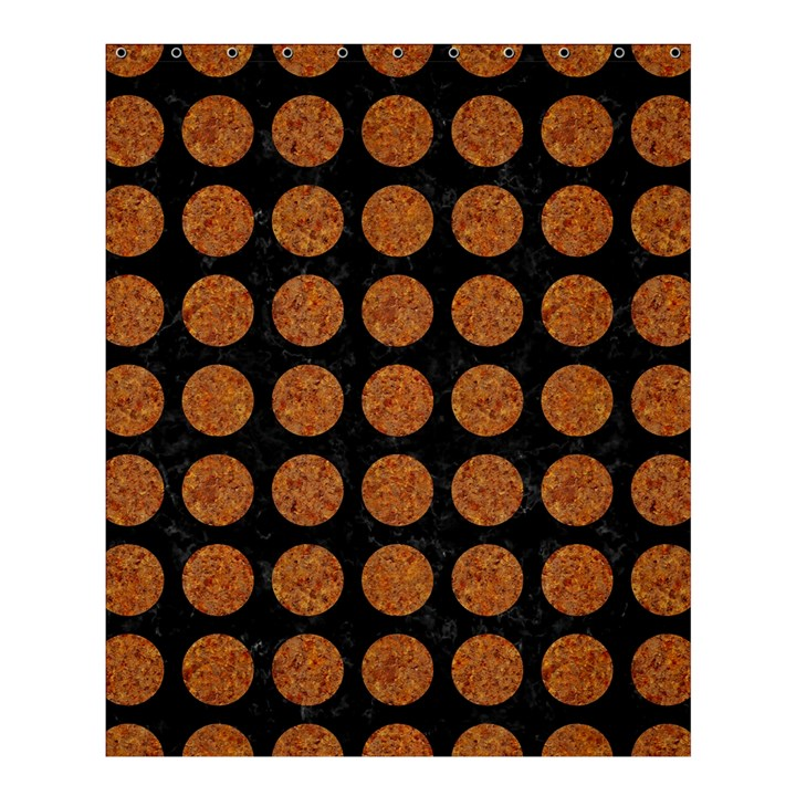 CIRCLES1 BLACK MARBLE & RUSTED METAL (R) Shower Curtain 60  x 72  (Medium)