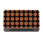 CIRCLES1 BLACK MARBLE & RUSTED METAL (R) Memory Card Reader with CF Front
