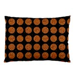 CIRCLES1 BLACK MARBLE & RUSTED METAL (R) Pillow Case (Two Sides) Front