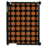 CIRCLES1 BLACK MARBLE & RUSTED METAL (R) Apple iPad 2 Case (Black) Front