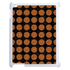 Circles1 Black Marble & Rusted Metal (r) Apple Ipad 2 Case (white)