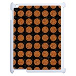 CIRCLES1 BLACK MARBLE & RUSTED METAL (R) Apple iPad 2 Case (White) Front
