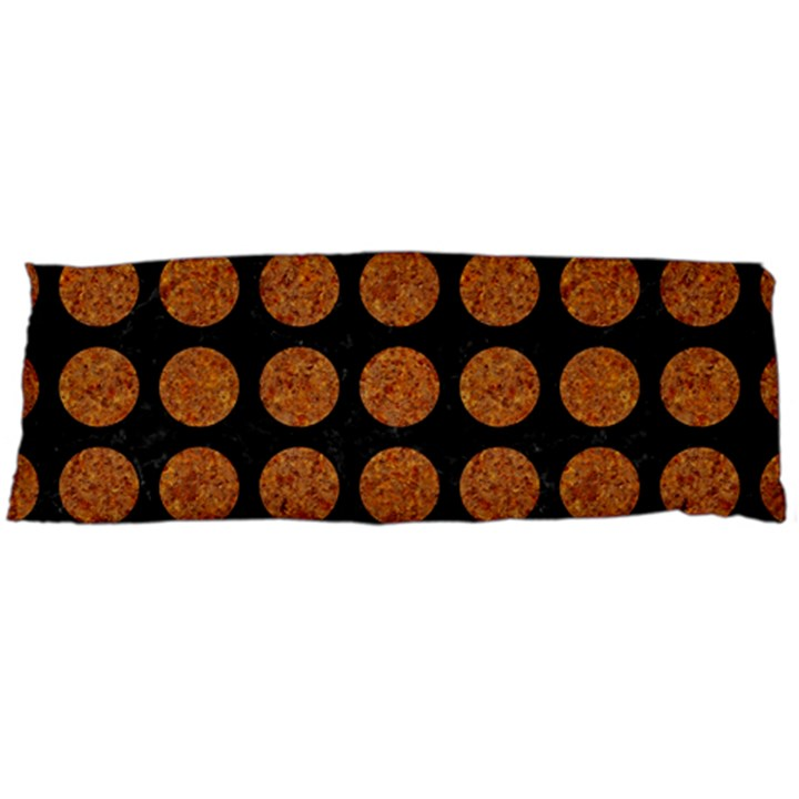 CIRCLES1 BLACK MARBLE & RUSTED METAL (R) Body Pillow Case Dakimakura (Two Sides)