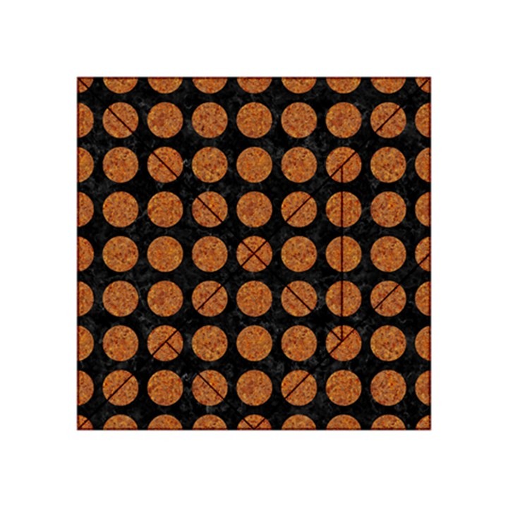 CIRCLES1 BLACK MARBLE & RUSTED METAL (R) Acrylic Tangram Puzzle (4  x 4 )