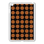 CIRCLES1 BLACK MARBLE & RUSTED METAL (R) Apple iPad Mini Case (White) Front